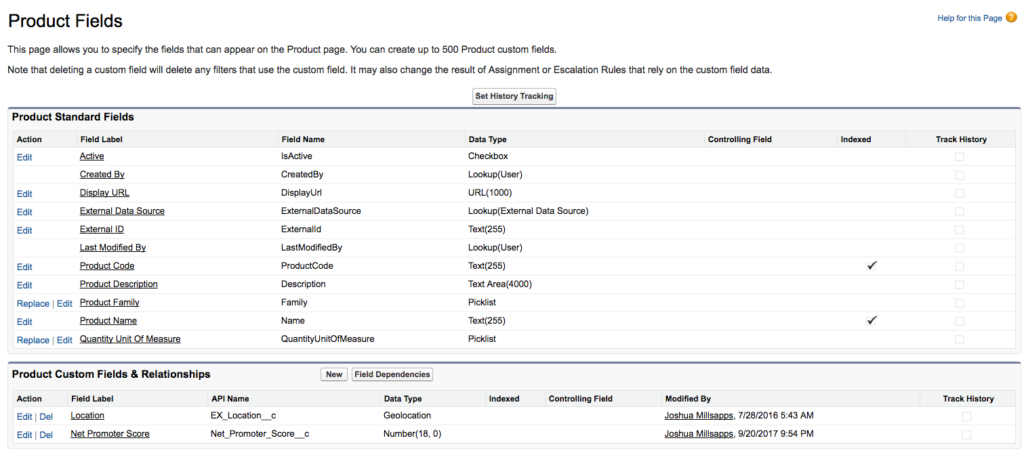 Salesforce Product NPS Field